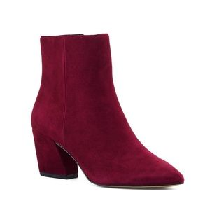Botkier Red Suede Booties- Size 6